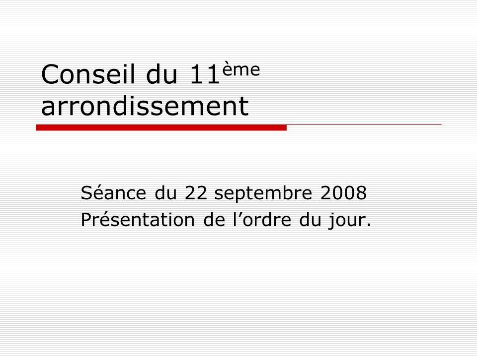Conseil du 11ème arrondissement