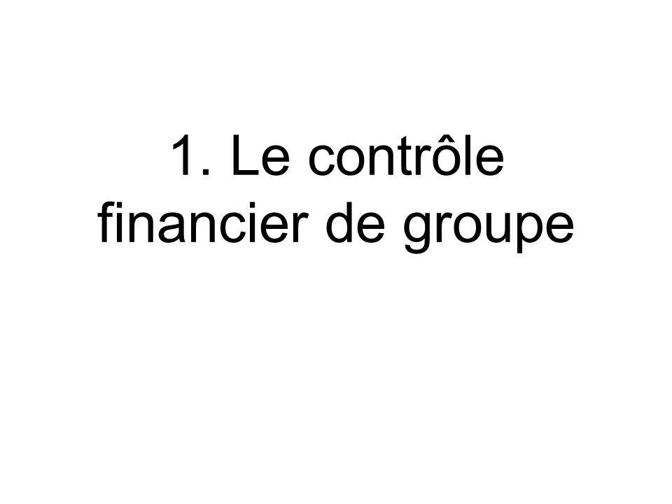 1. Le contrôle financier de groupe