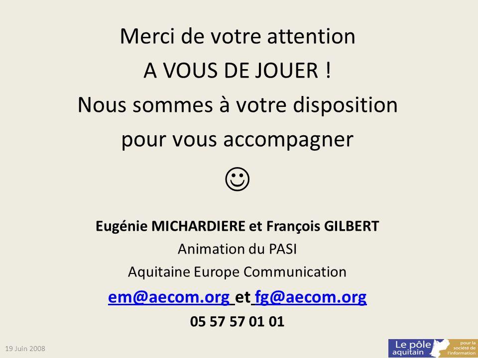 Eugénie MICHARDIERE et François GILBERT em@aecom.org et fg@aecom.org
