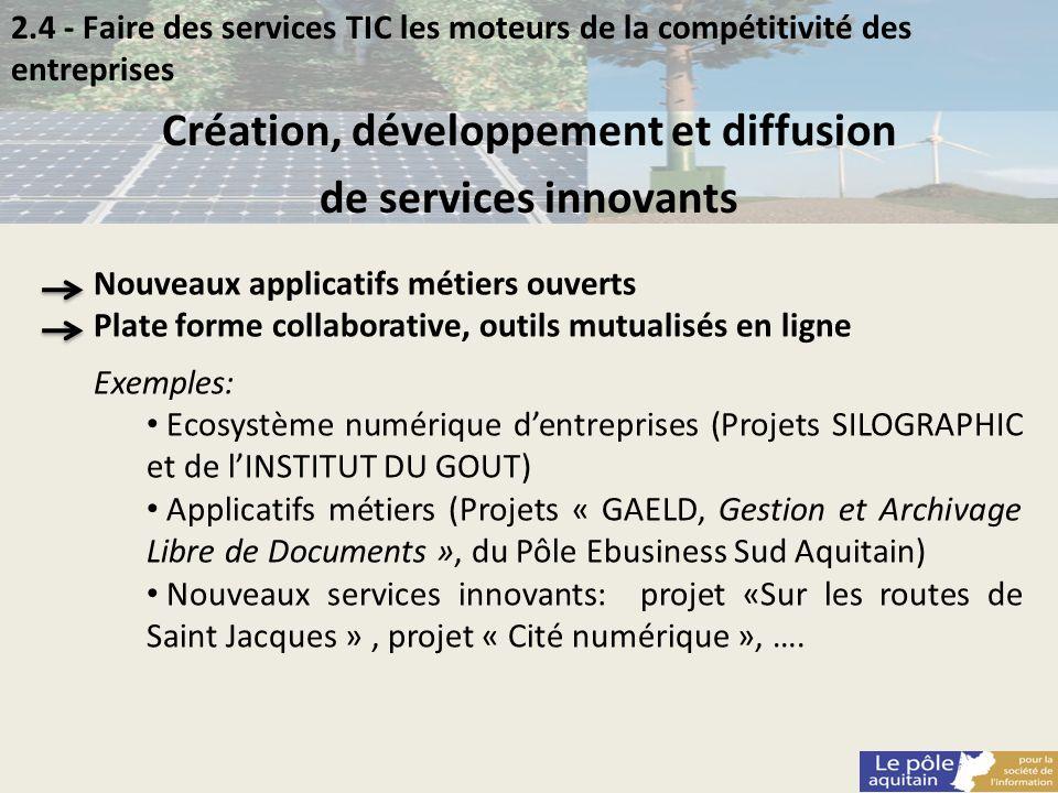Création, développement et diffusion