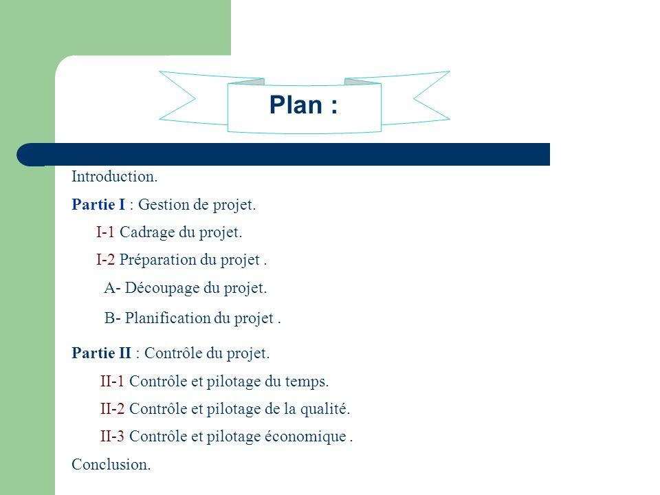Plan : Introduction. Partie I : Gestion de projet.