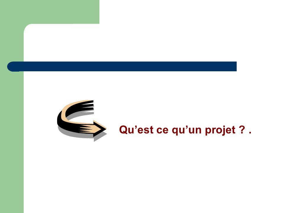 Qu'est ce qu'un projet .