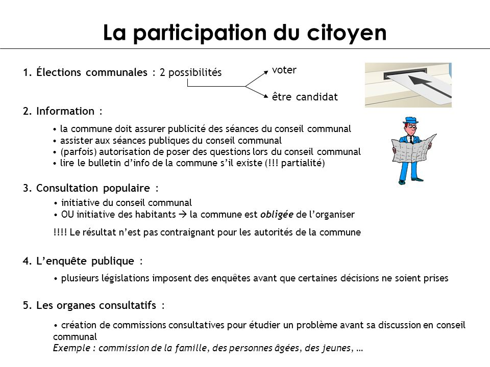 La participation du citoyen