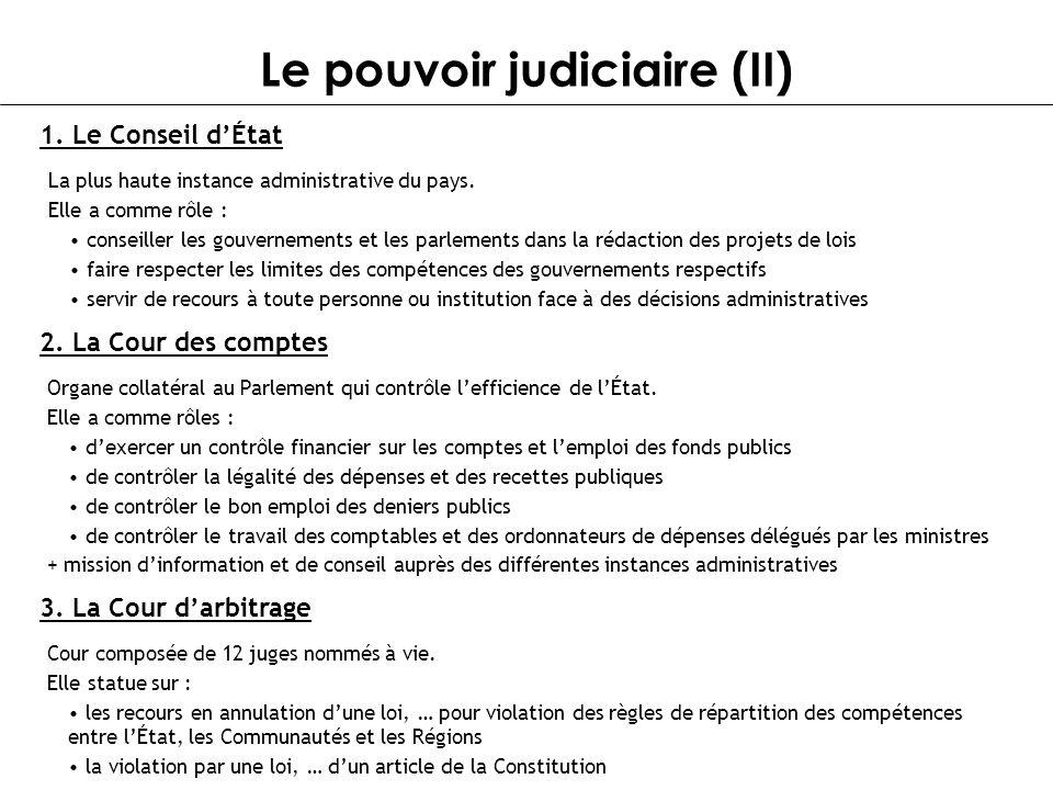 Le pouvoir judiciaire (II)