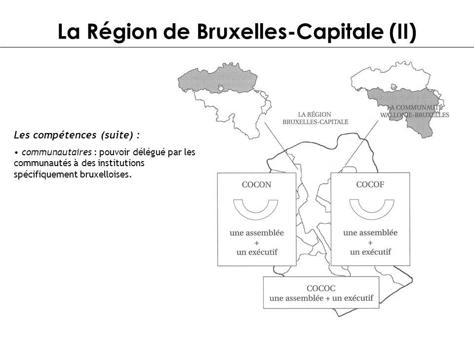 La Région de Bruxelles-Capitale (II)