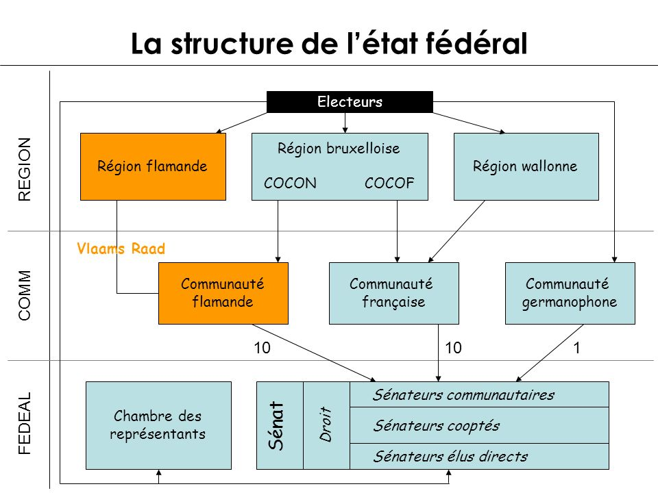 La structure de l'état fédéral