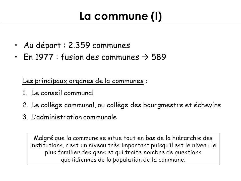 La commune (I) Au départ : 2.359 communes