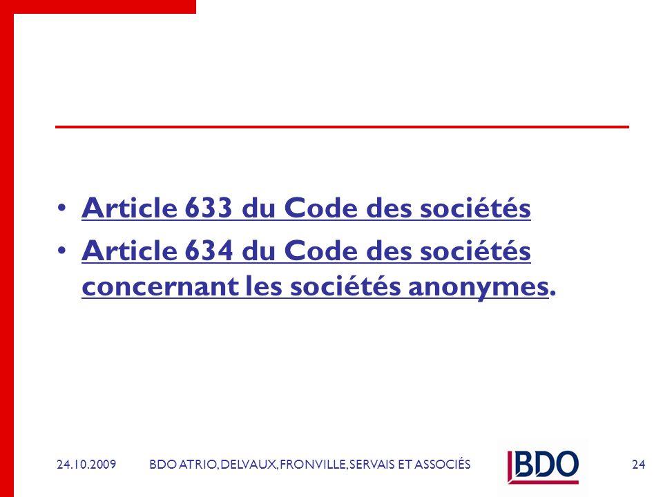 Article 633 du Code des sociétés