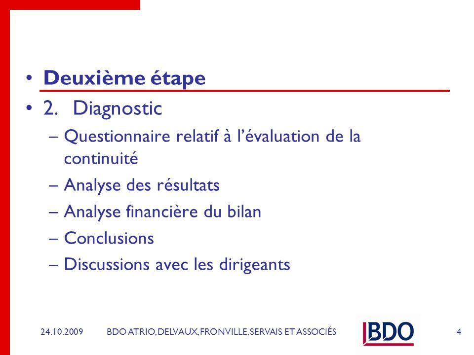 Deuxième étape 2. Diagnostic
