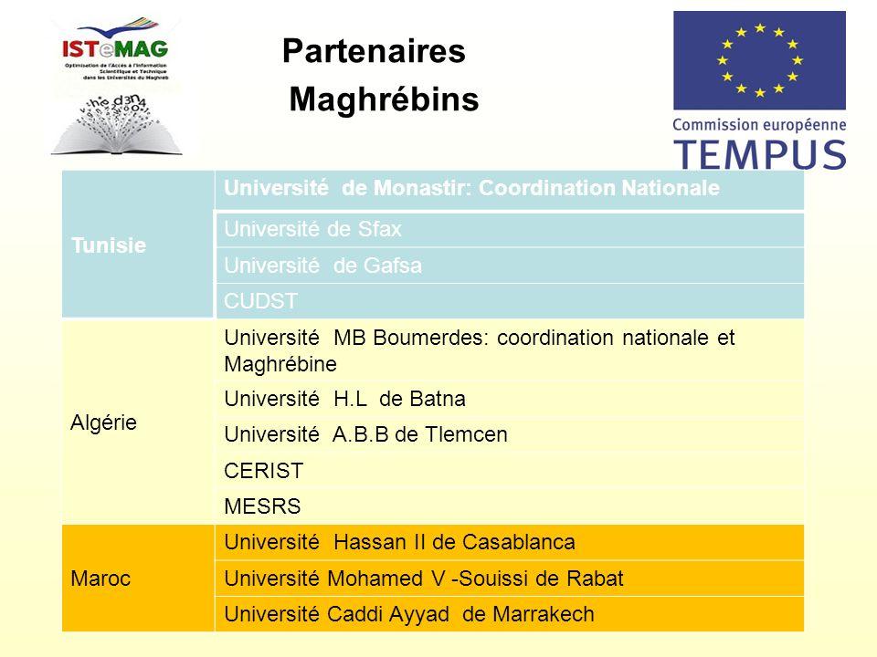 Partenaires Maghrébins Tunisie