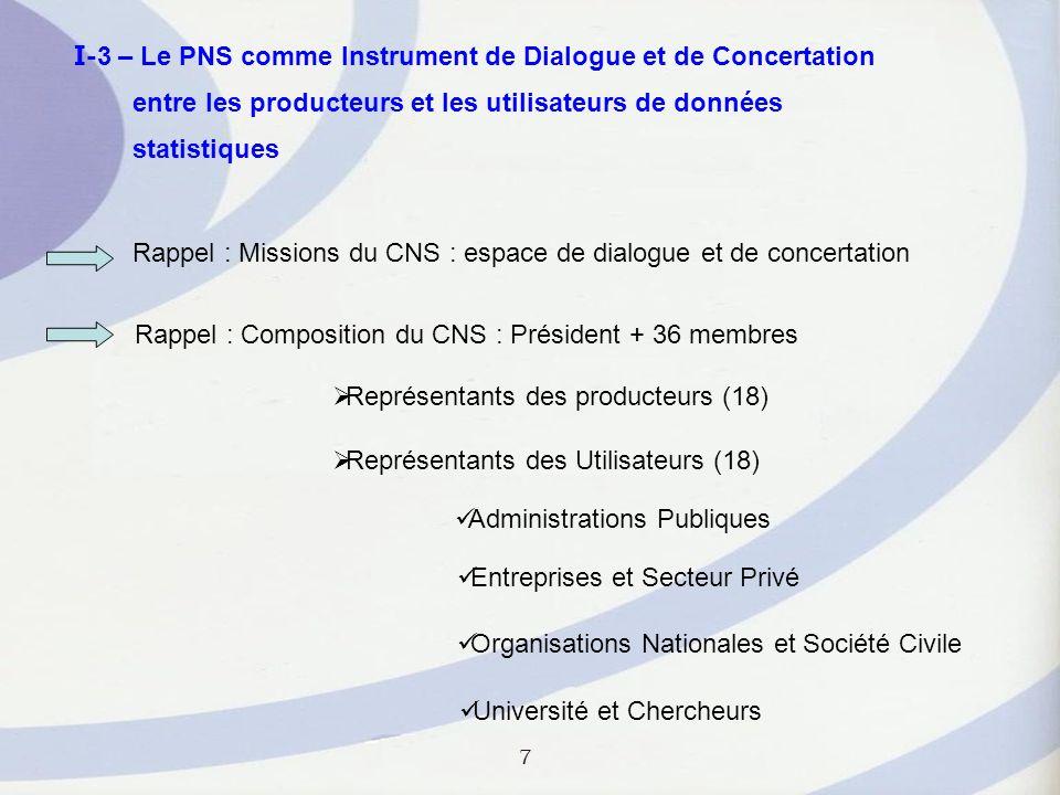I-3 – Le PNS comme Instrument de Dialogue et de Concertation