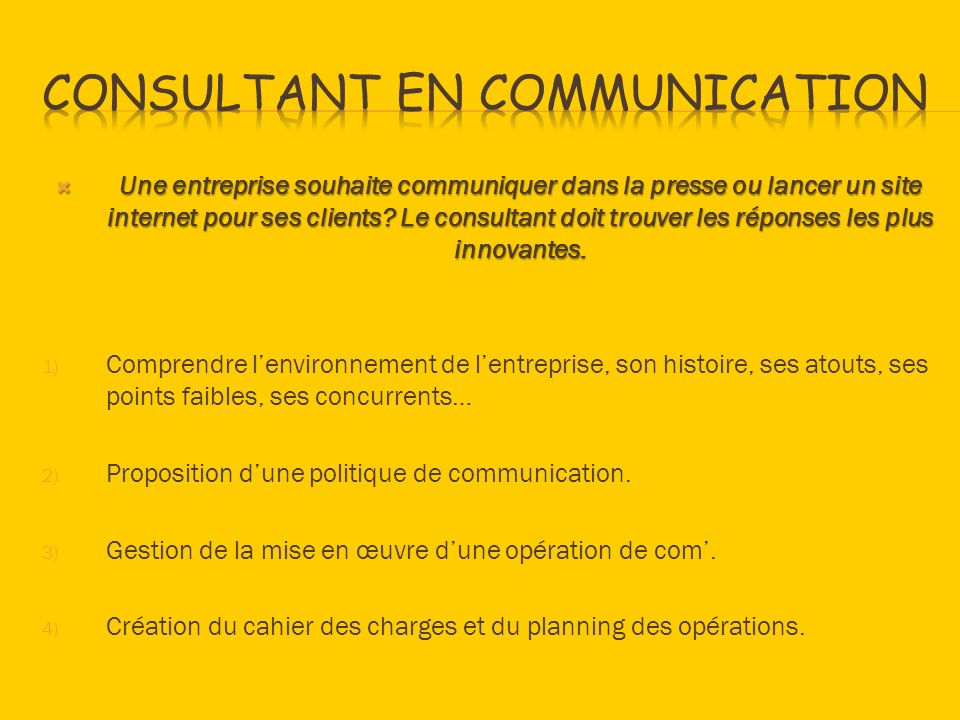 Consultant en communication