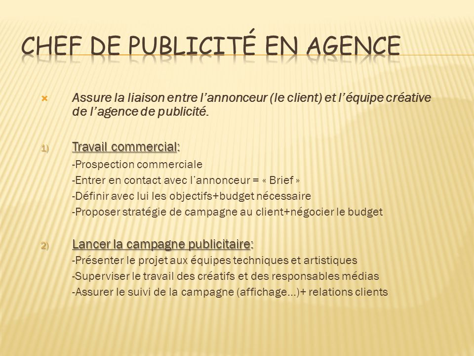 Chef de publicité en agence