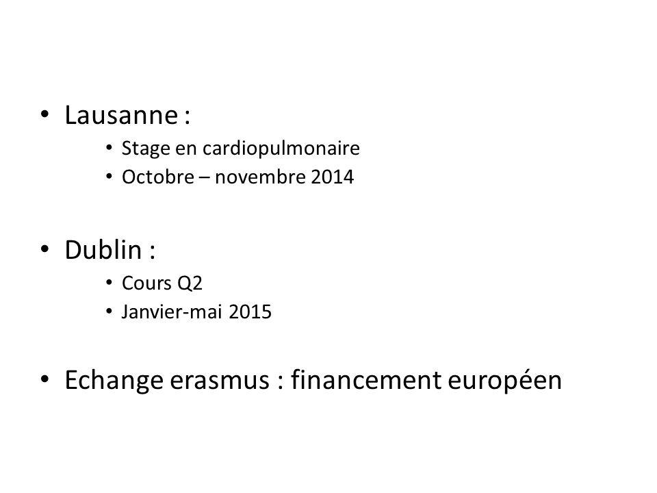Echange erasmus : financement européen