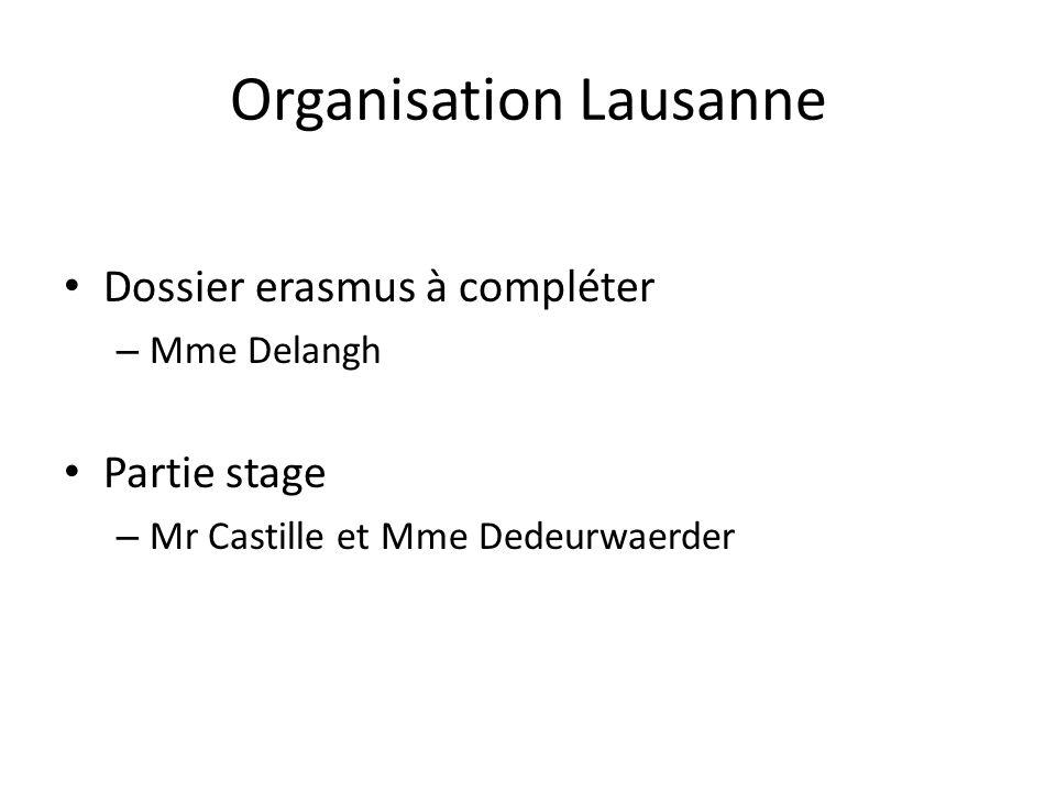 Organisation Lausanne