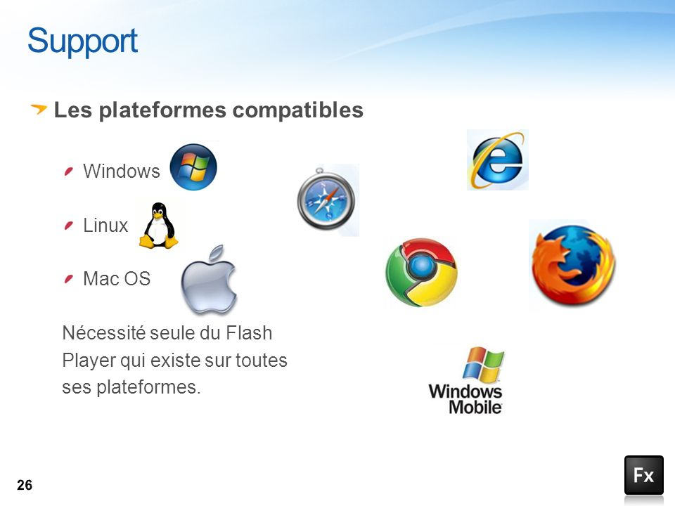 Support Les plateformes compatibles Windows Linux Mac OS