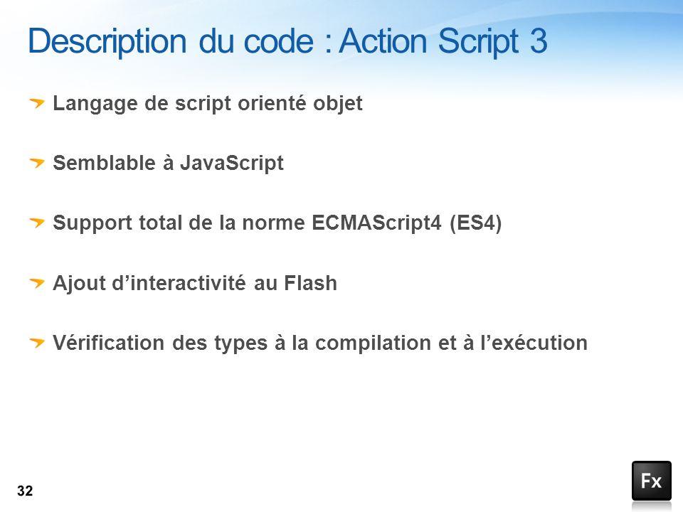 Description du code : Action Script 3