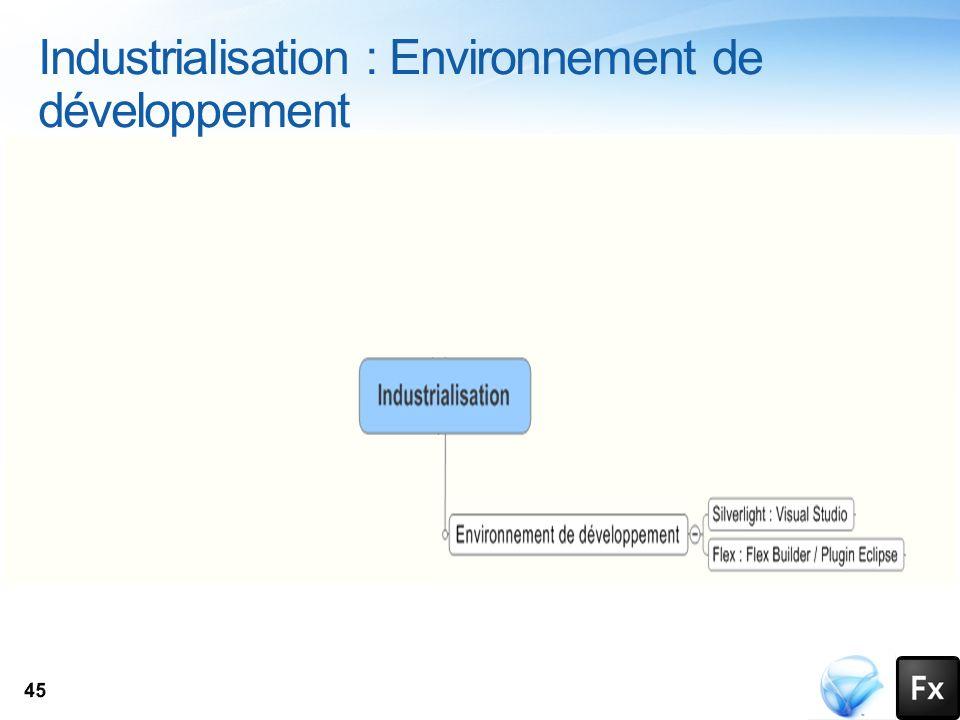 Industrialisation : Environnement de développement