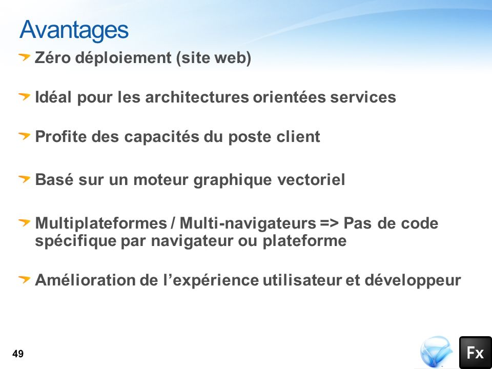 Avantages Zéro déploiement (site web)
