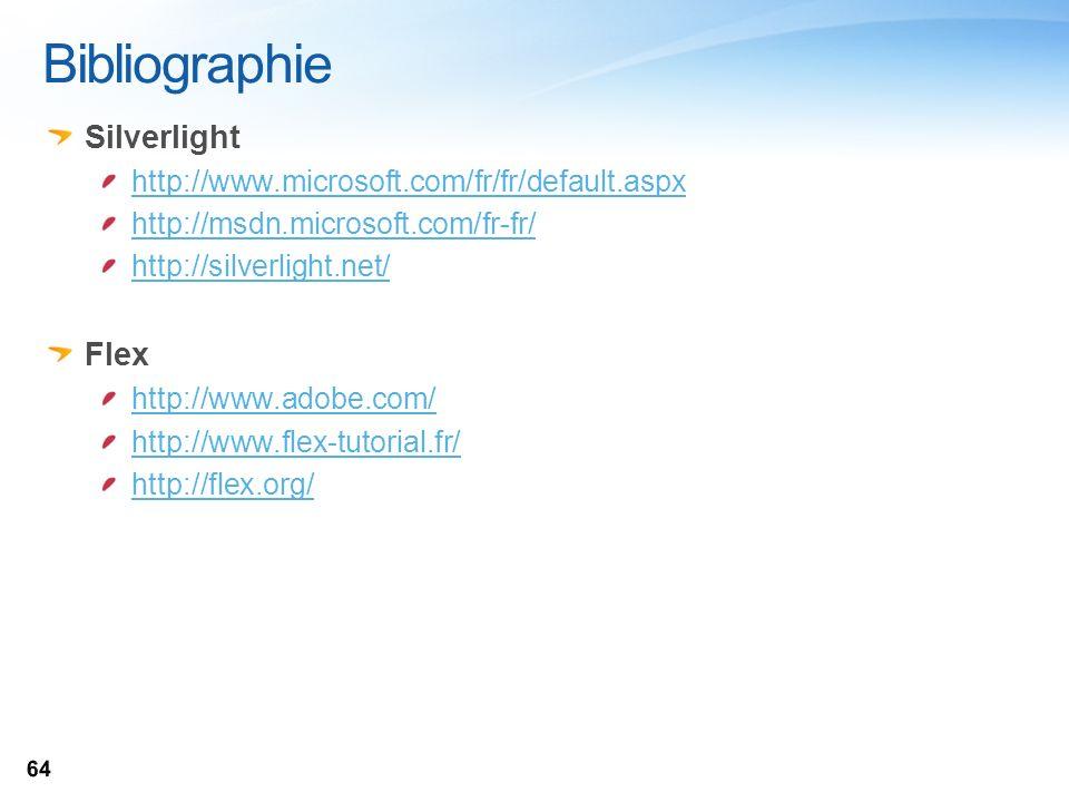 Bibliographie Silverlight Flex