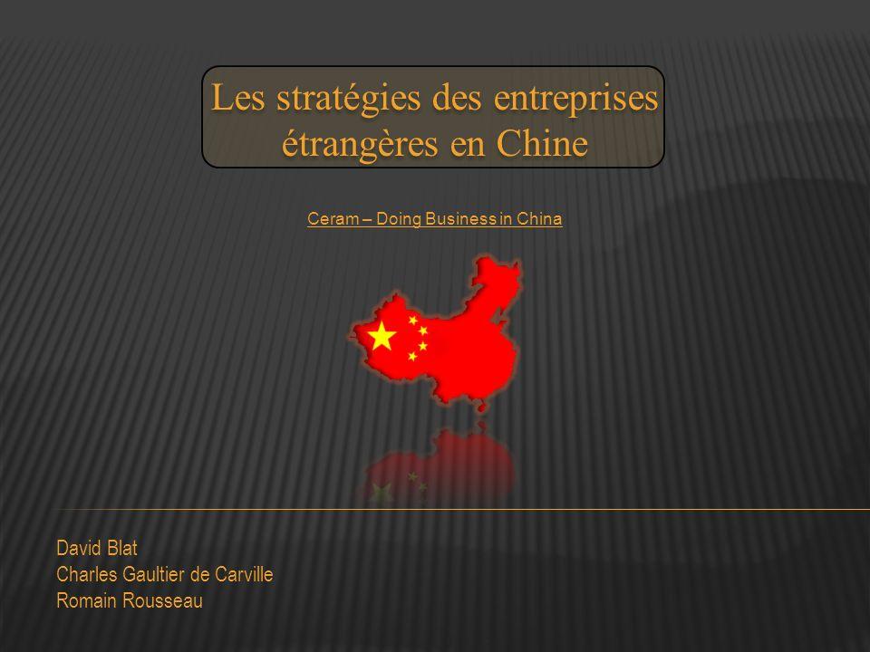 Les stratégies des entreprises étrangères en Chine