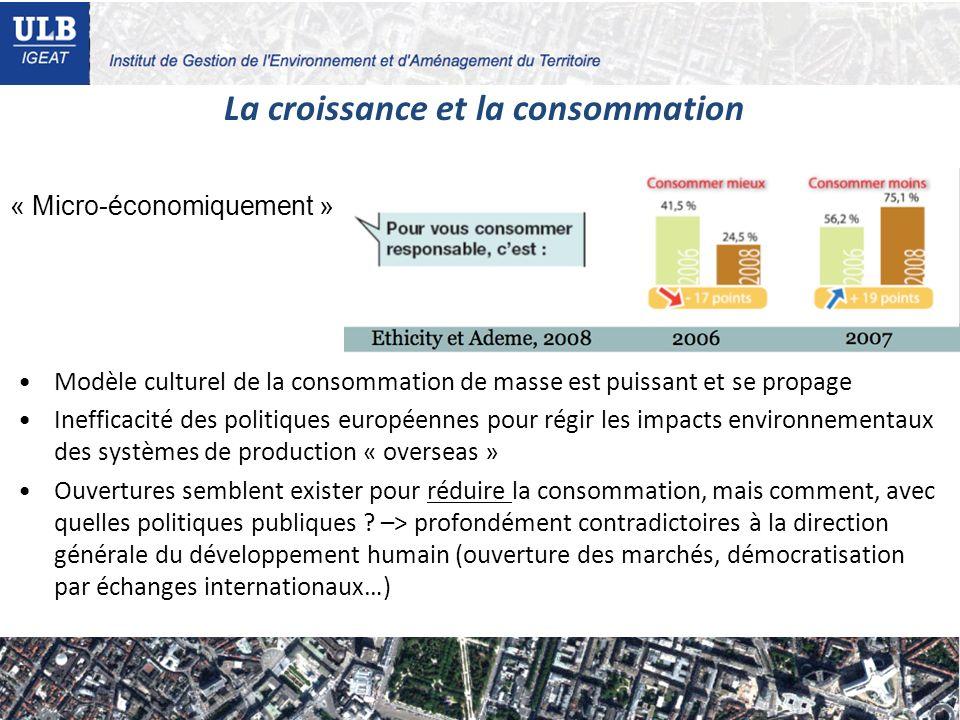 La croissance et la consommation