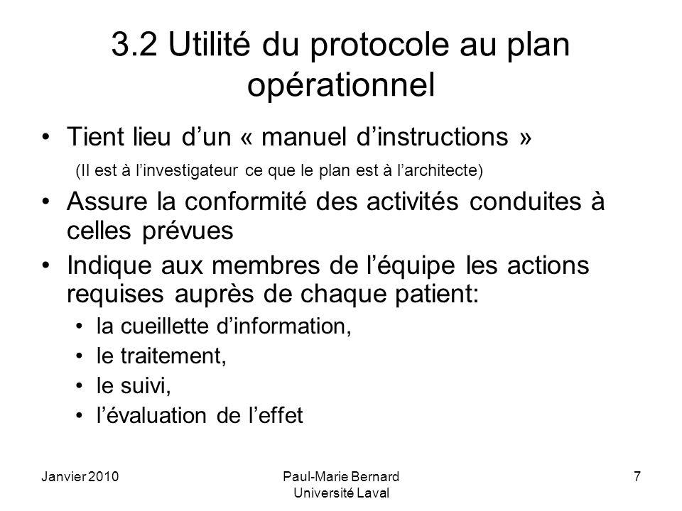 3.2 Utilité du protocole au plan opérationnel