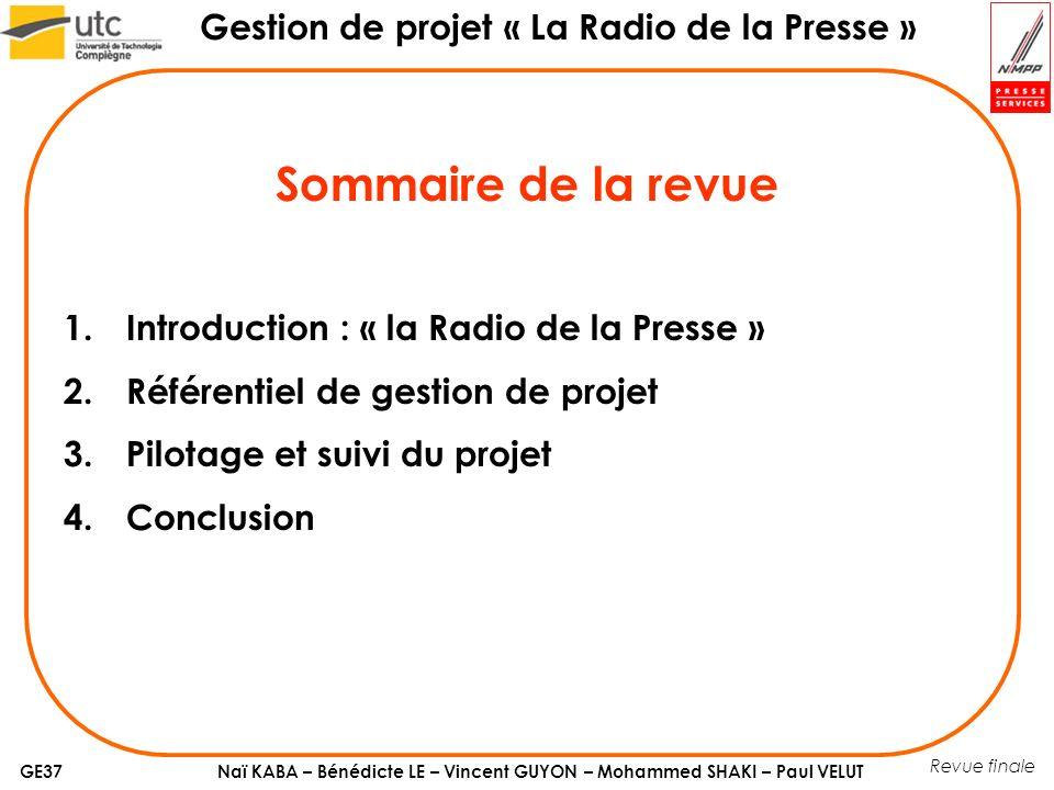 Sommaire de la revue Introduction : « la Radio de la Presse »