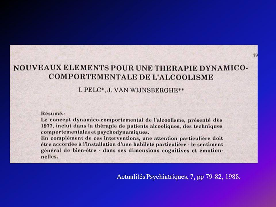 Actualités Psychiatriques, 7, pp 79-82, 1988.