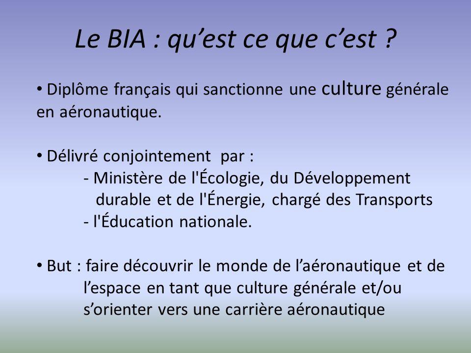 Le BIA : qu'est ce que c'est