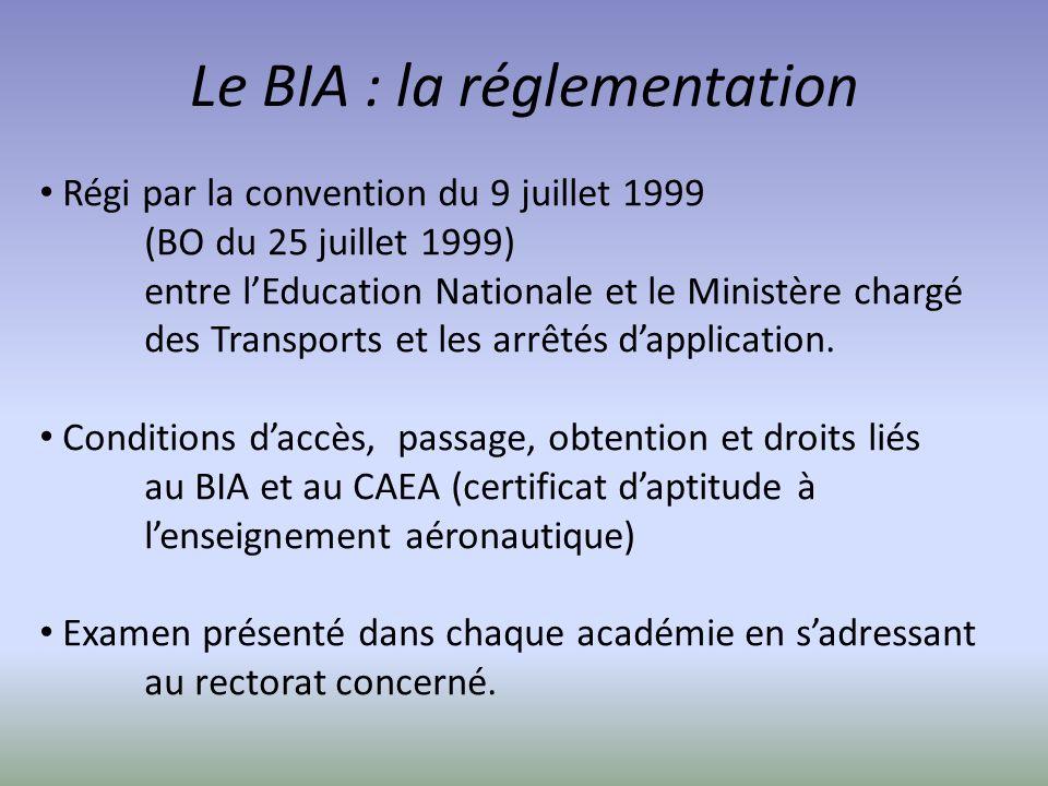 Le BIA : la réglementation