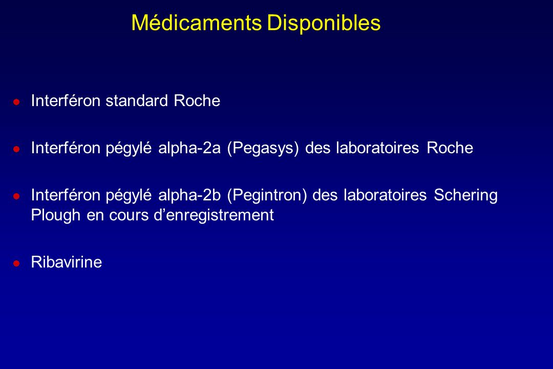Médicaments Disponibles