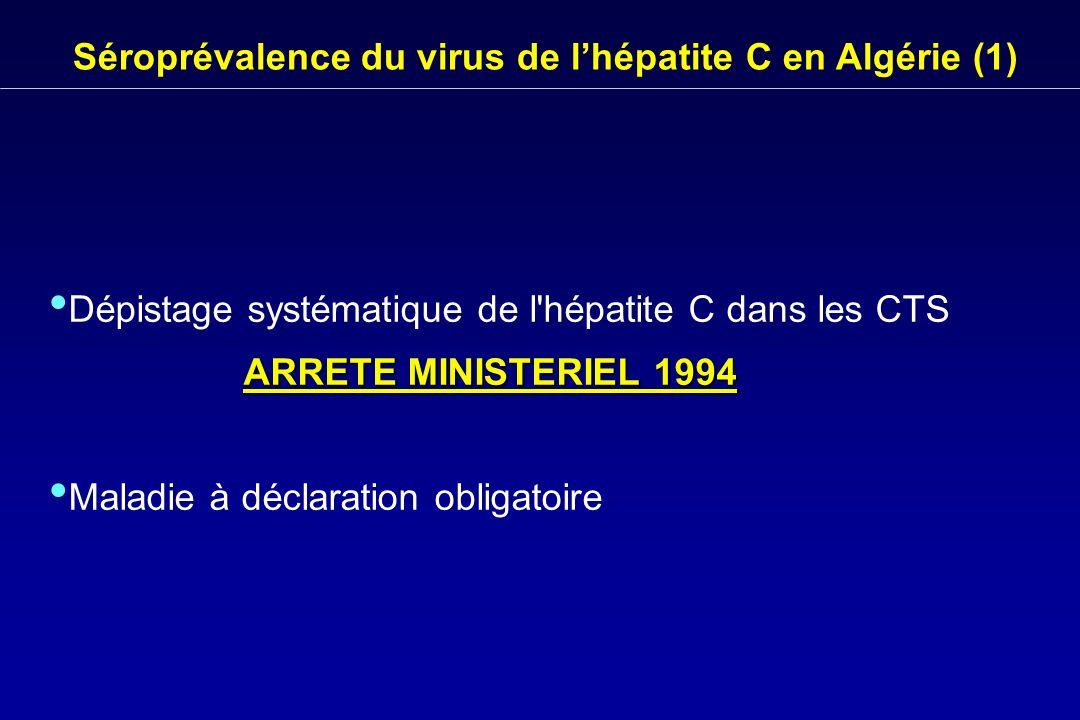 Séroprévalence du virus de l'hépatite C en Algérie (1)