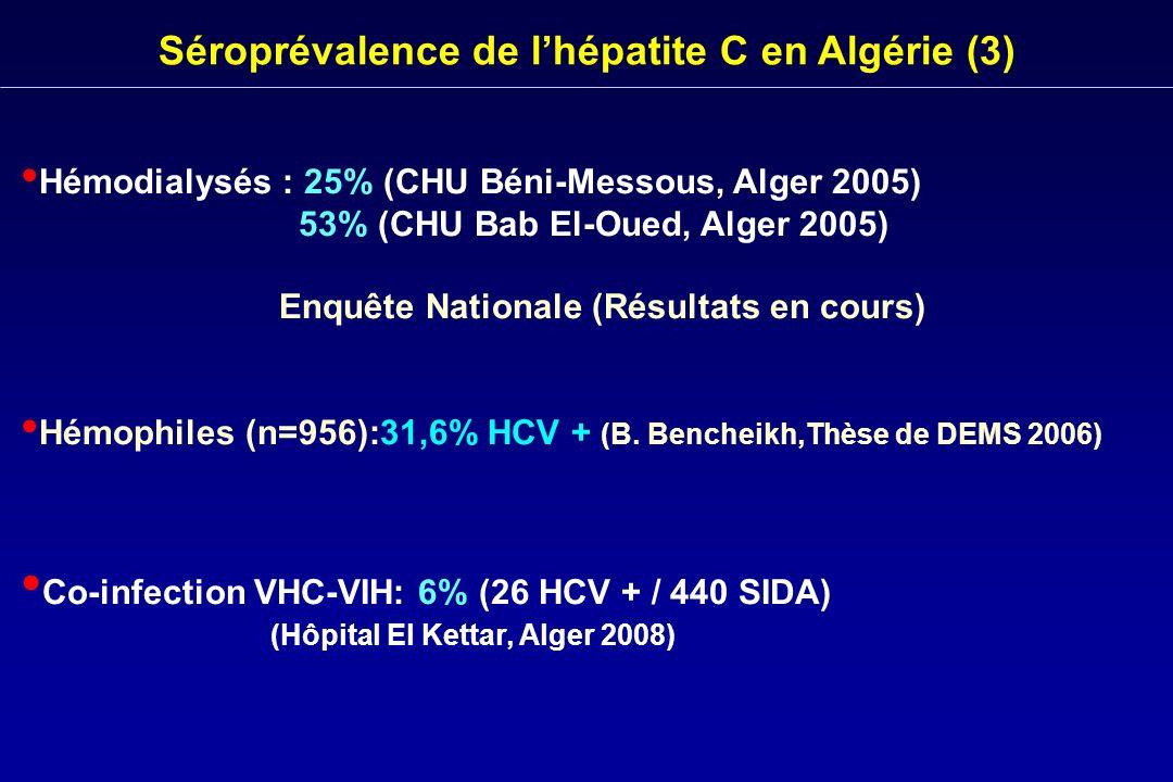 Séroprévalence de l'hépatite C en Algérie (3)