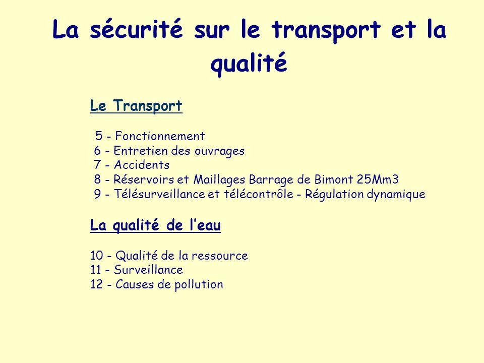 La sécurité sur le transport et la qualité