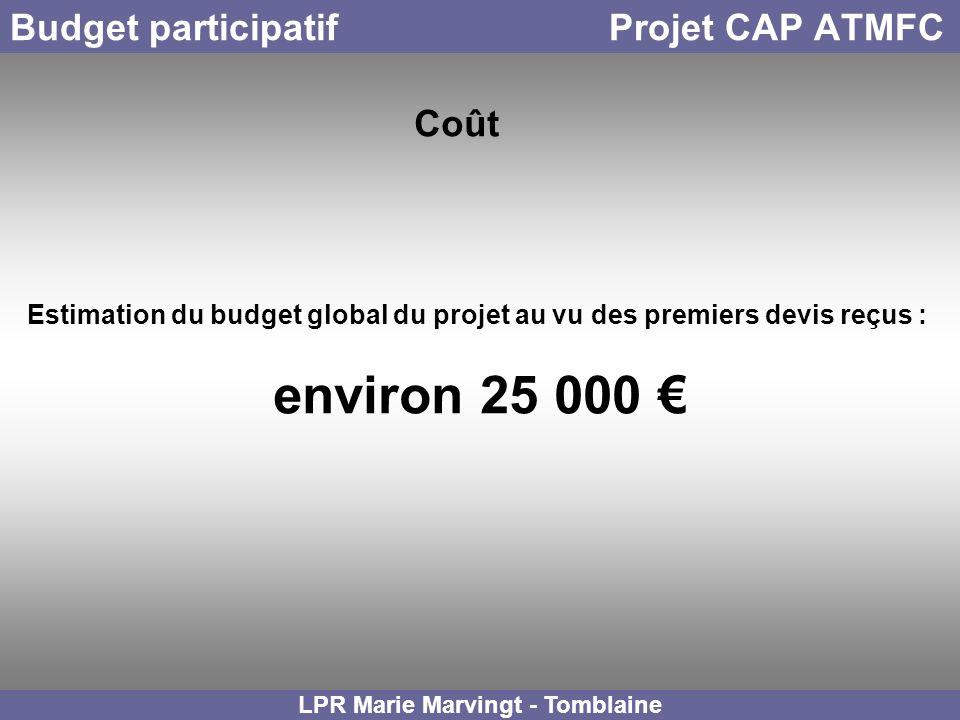 Budget participatif Projet CAP ATMFC