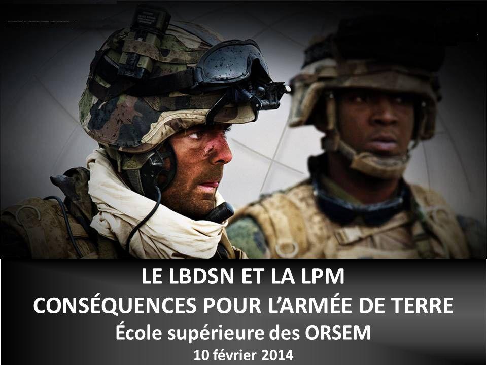 CONSÉQUENCES POUR L'ARMÉE DE TERRE École supérieure des ORSEM