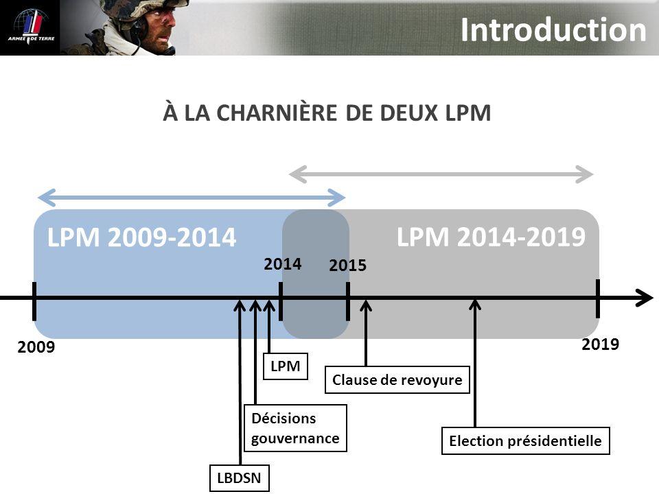 Introduction LPM 2009-2014 LPM 2014-2019 À LA CHARNIÈRE DE DEUX LPM