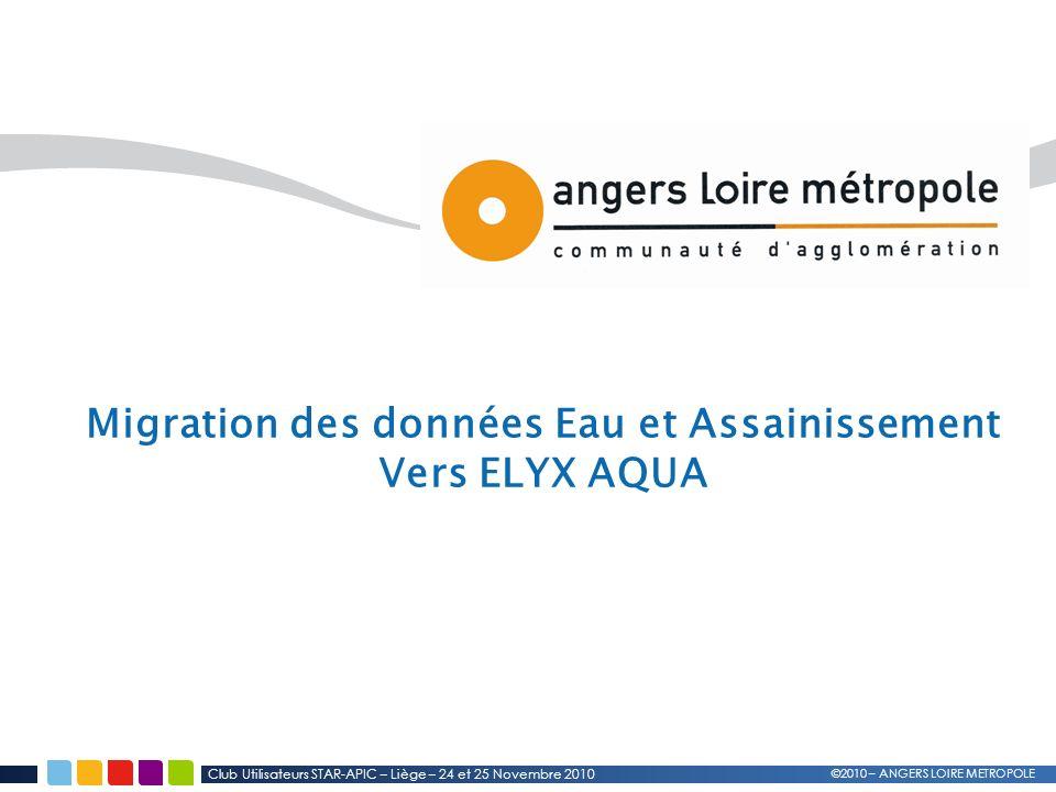 Migration des données Eau et Assainissement Vers ELYX AQUA