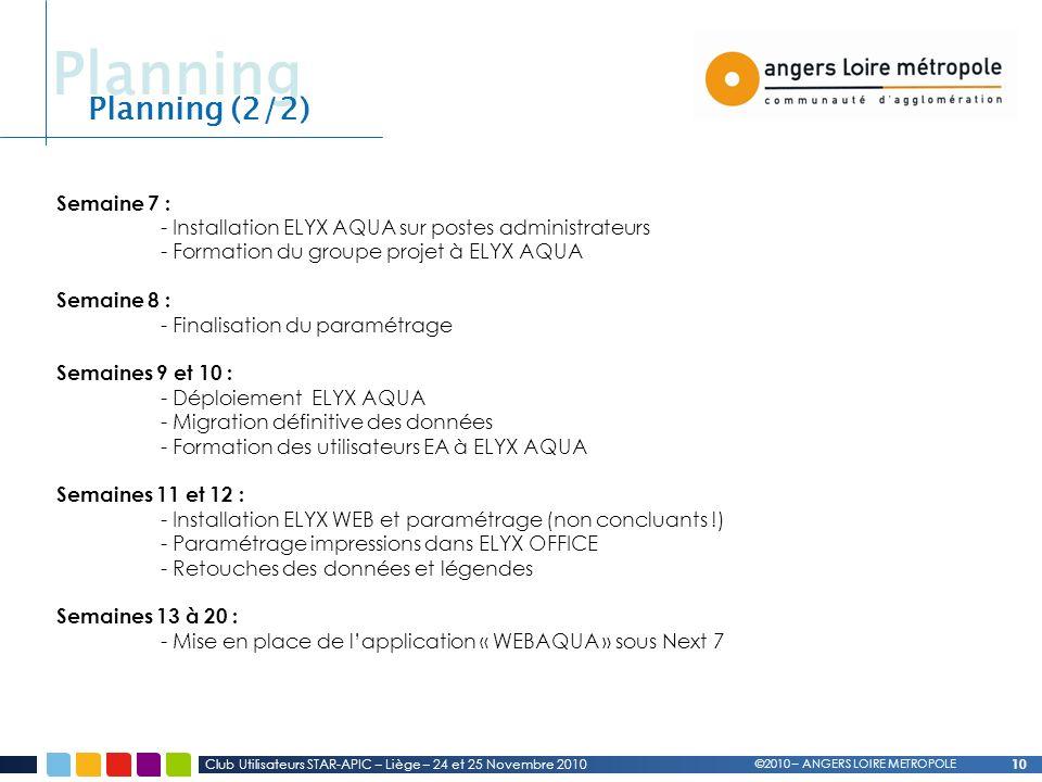 Planning Planning (2/2) Semaine 7 :