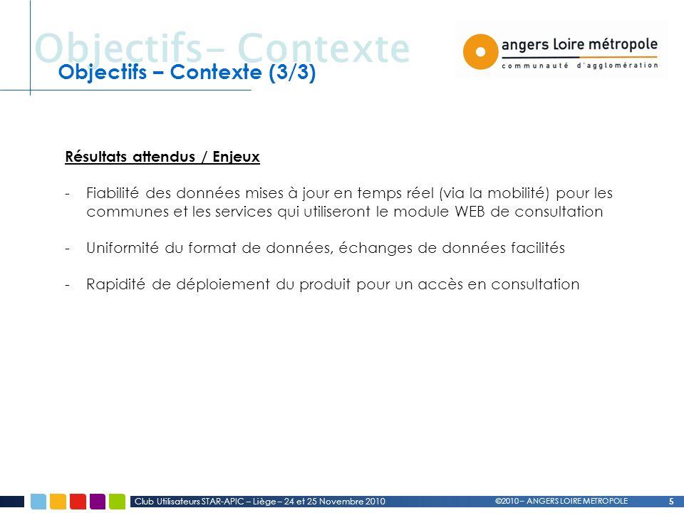 Objectifs- Contexte Objectifs – Contexte (3/3)