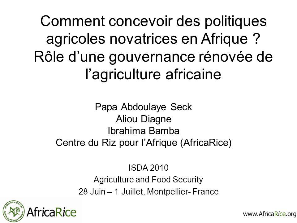 Comment concevoir des politiques agricoles novatrices en Afrique