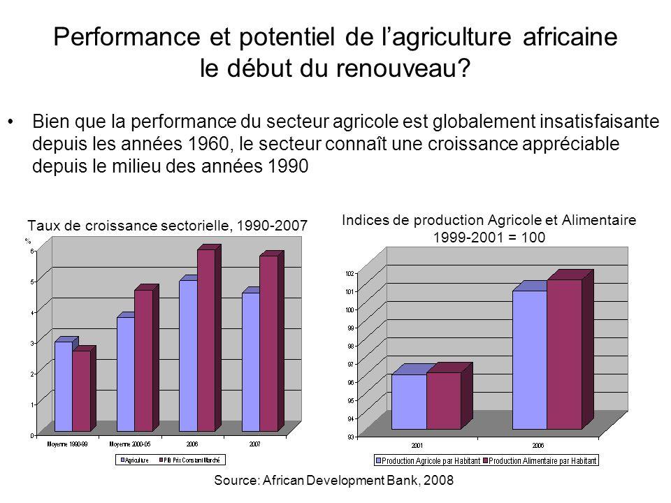 Performance et potentiel de l'agriculture africaine le début du renouveau