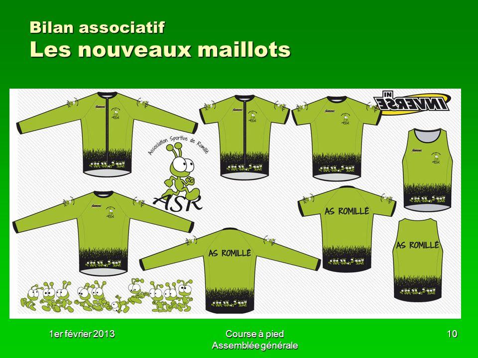 Bilan associatif Les nouveaux maillots