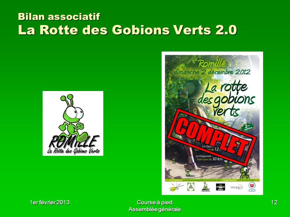 Bilan associatif La Rotte des Gobions Verts 2.0