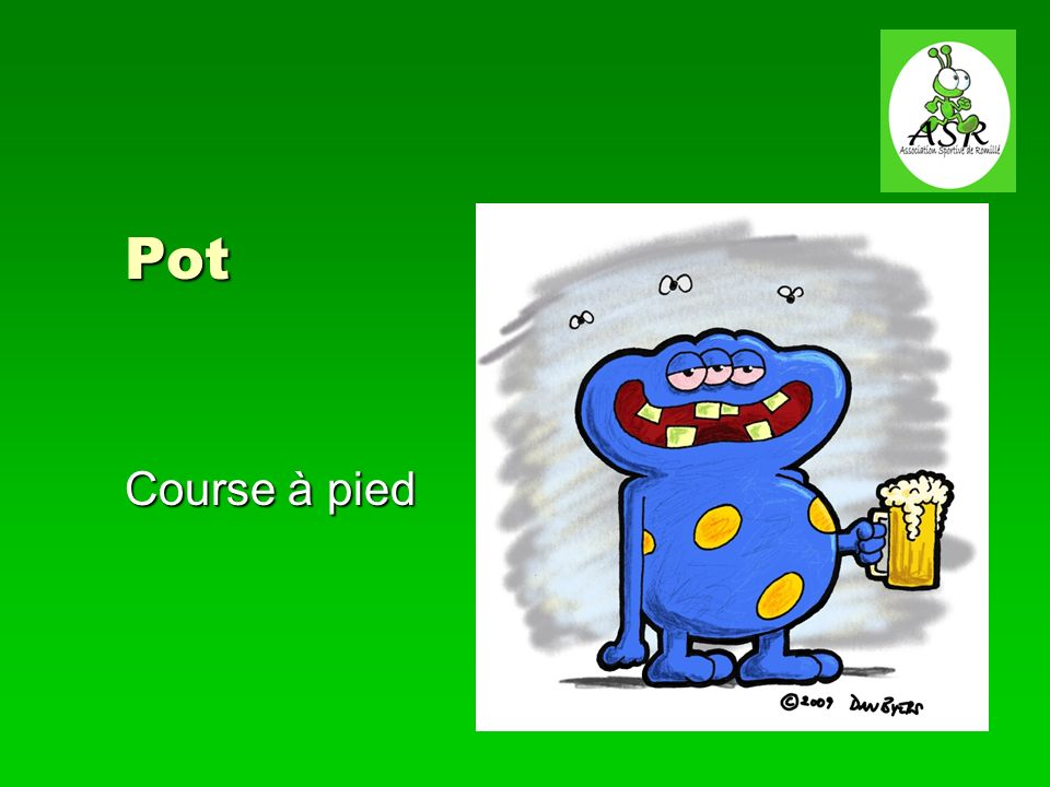 Pot Course à pied