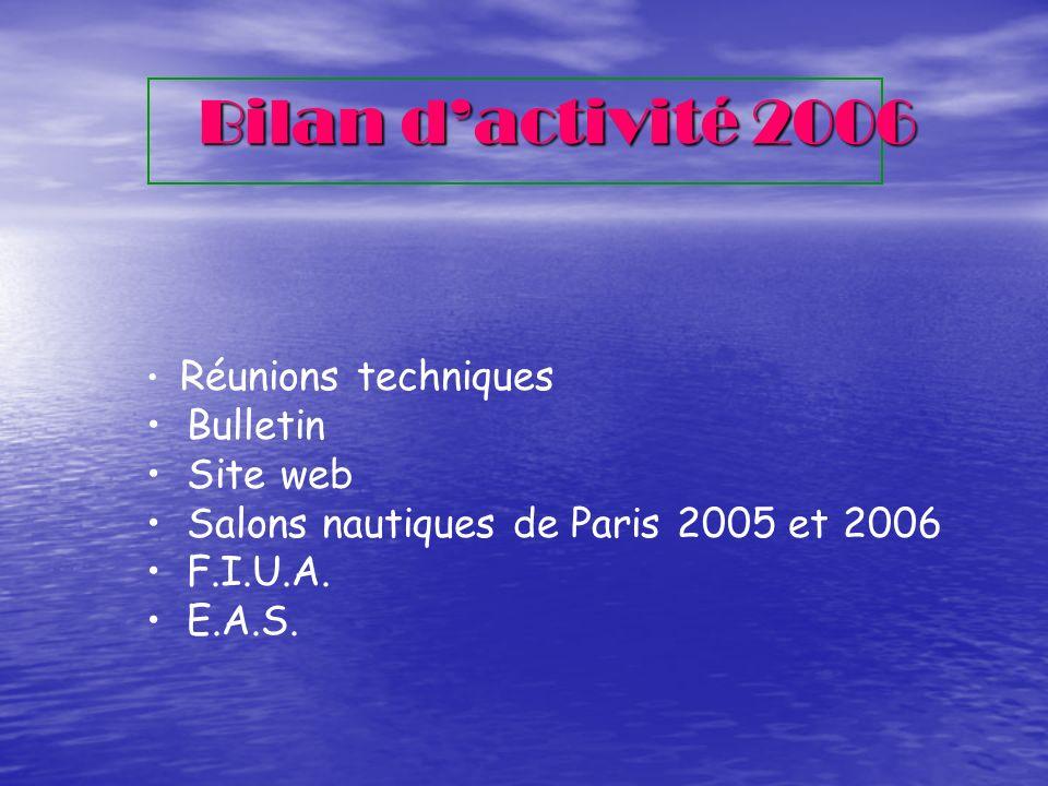Bilan d'activité 2006 Bulletin Site web