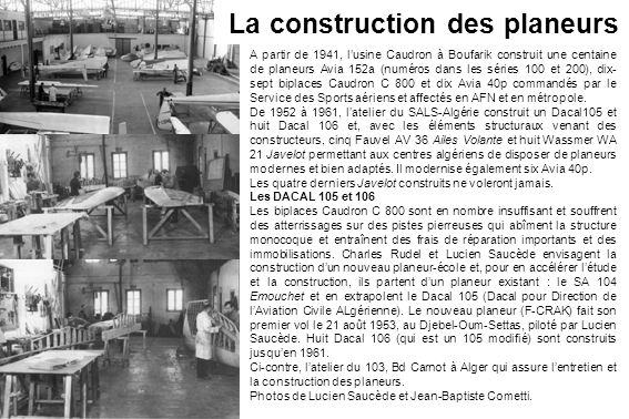 La construction des planeurs