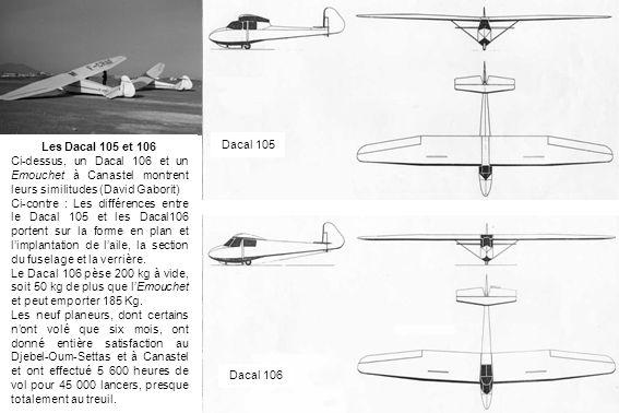 Les Dacal 105 et 106 Ci-dessus, un Dacal 106 et un Emouchet à Canastel montrent leurs similitudes (David Gaborit)