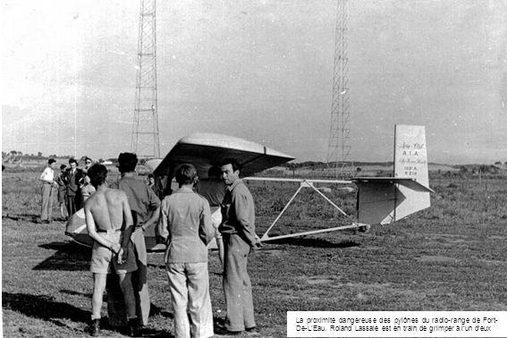 La proximité dangereuse des pylônes du radio-range de Fort-De-L'Eau